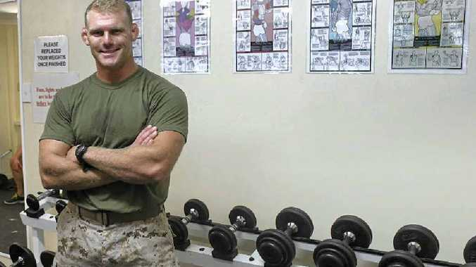 ALWAYS MOTIVATED: Fitness is top priority for US Marine Captain Matt Parsons to be ready to jump into combat at a moment's notice.