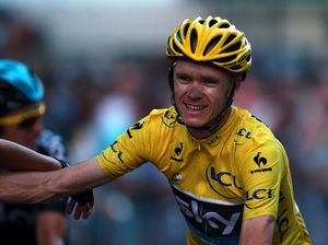Chris Froome tries his hand as a racing driver