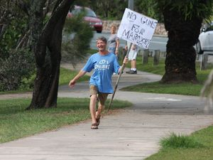 Man marches against new Maroochydore gun shop
