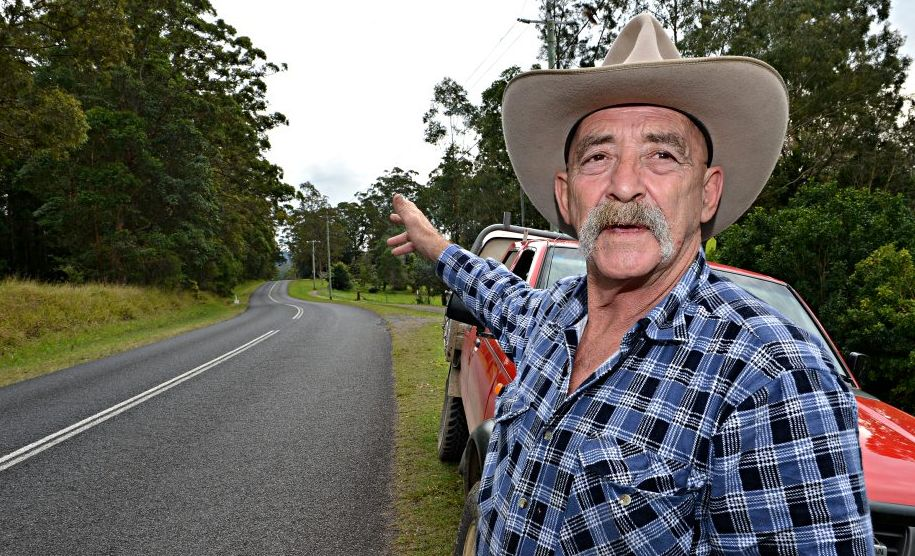 Allan Budge is concerned about cyclist using the Peachester Bald Knob Road.