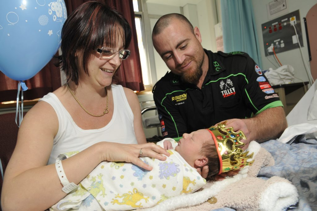 Image for sale: Peta Michaelle and Dan Cannnon welcomed their little prince Archer Vahe into the world on the same day as the royal baby. Photo Dave Noonan / The Chronicle