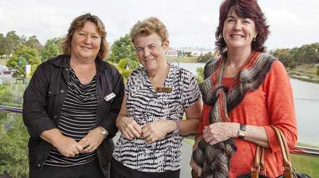 Education Queensland's Jenny White, USQ Careers Counsellor Jenny Gunn and Fraser Coast Psychologist Karen Howe at the DSM-5 workshop at USQ Fraser Coast.