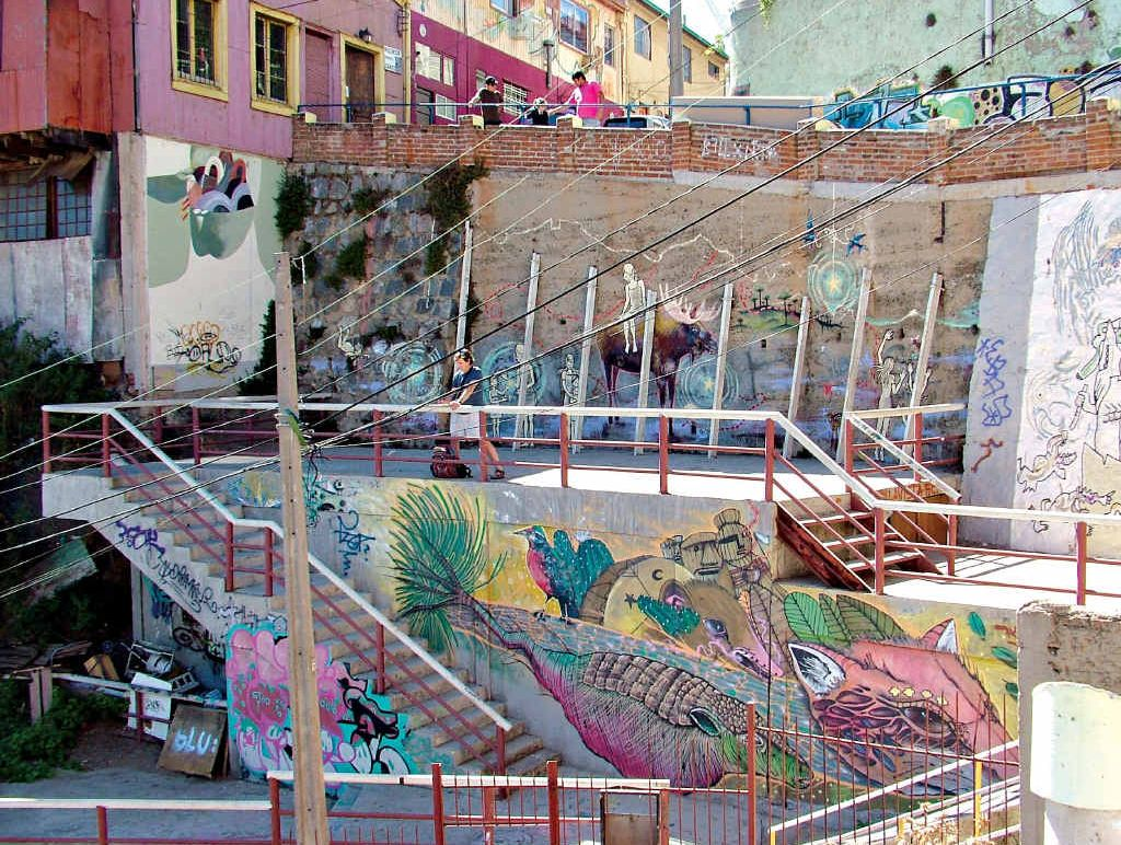There's plenty of space for street art in Valparaiso and it helps attract tourists.