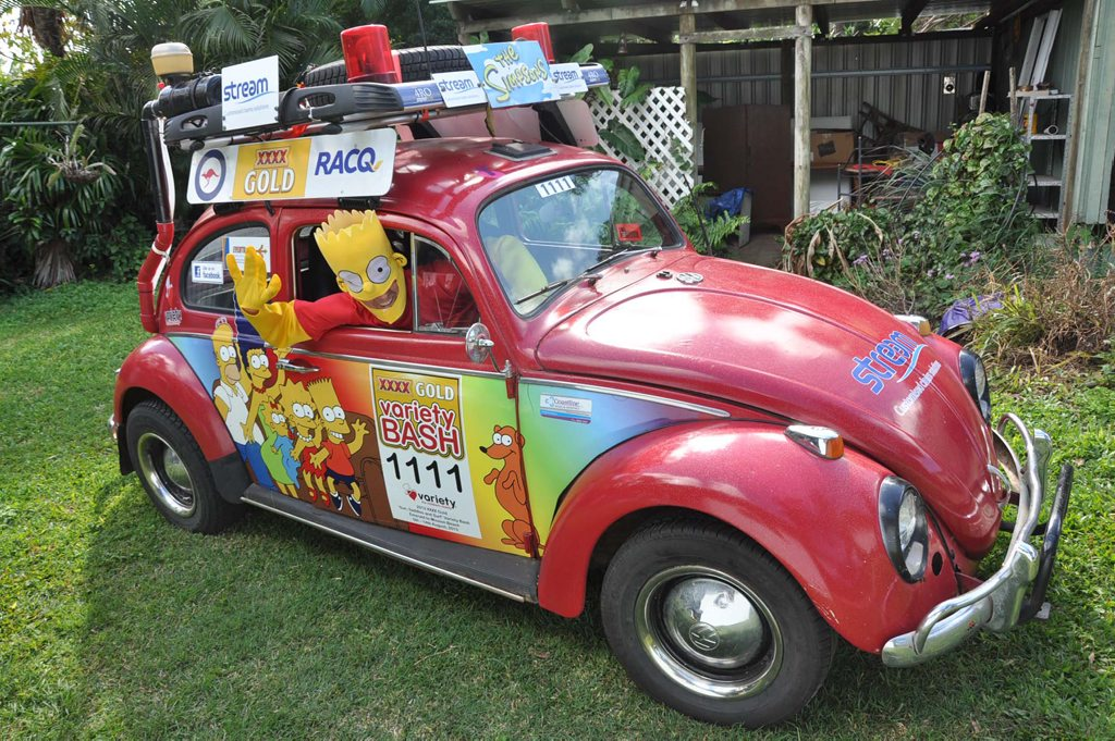 Yeppoons David Murray is giving in to his facination with Bart to raise funds for children in this years Variety Club XXXX Gold Variety Bash.