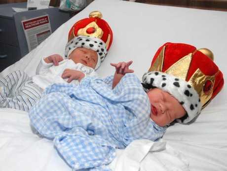 Mackay Royal babies Daiquain Des Jai Langwe and Braxton Bernard Myles Stanborough.