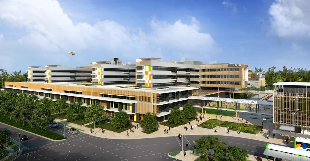 An artist's impression of the Sunshine Coast University Hospital.