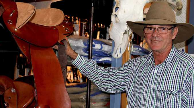HOT SEAT: Long-time campdrafter Mike has a gift for saddle-making.