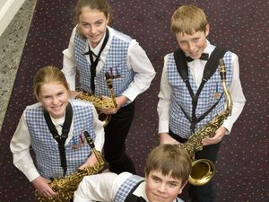 Middle Ridge saxophone quartet