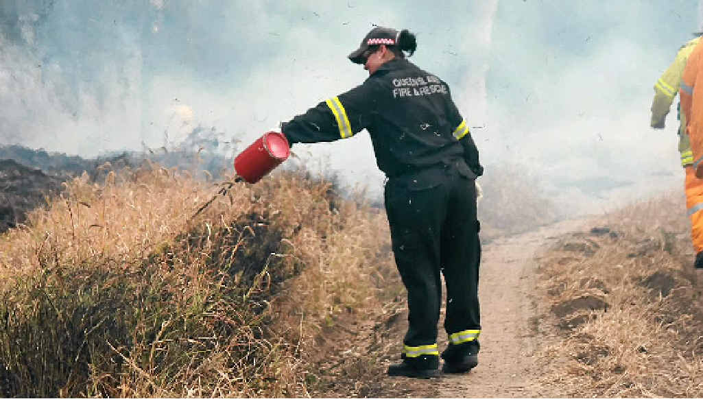Queensland Fire and Rescue says burn off the fuel.