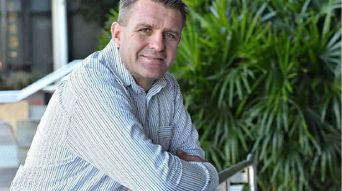 TACKLING PROBLEMS: Shane Webcke visits Mackay as part of his workplace safety advocate role.