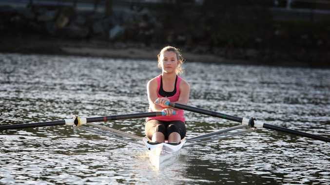 Aleesha Lenehan has a bright future in rowing.