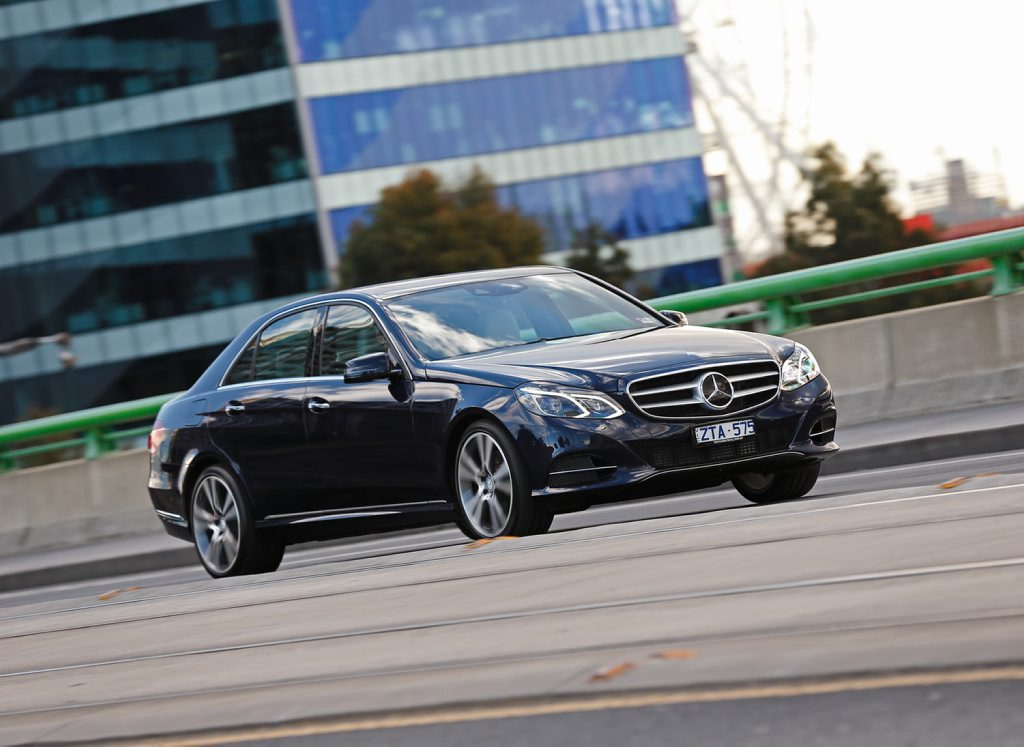 The new Mercedes-Benz E300 BlueTec Hybrid.