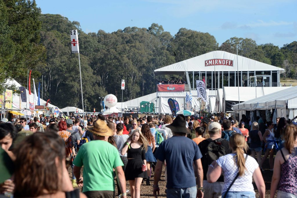 The crowd pours in at Splendour In The Grass.