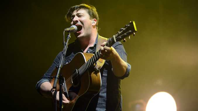 Marcus Mumford of Mumford and Sons performing at Splendour in the Grass.