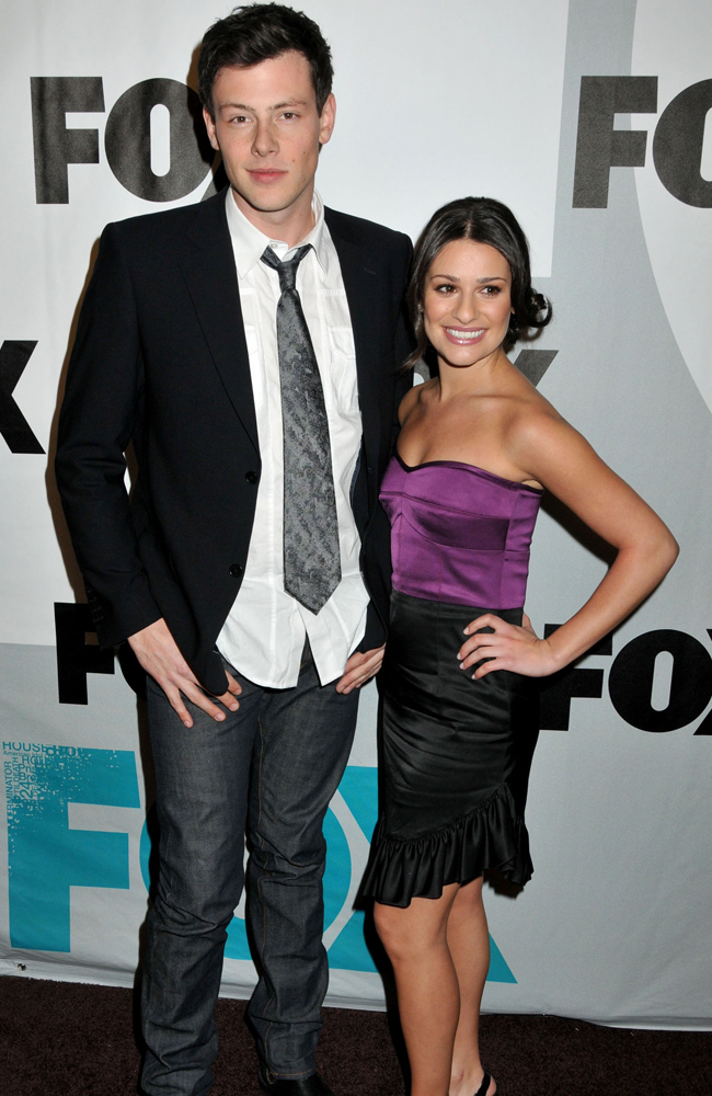 Cory Monteith with Lea Michele