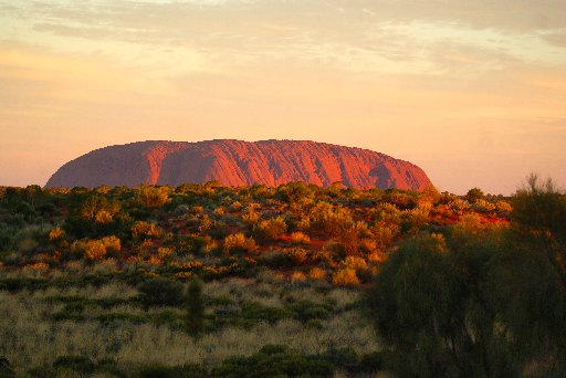 A view of one of Australia's most notable landmarks - Uluru