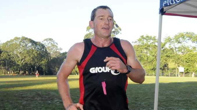 Tony Curtis from Lismore, was first home in the 10Km run in the time of 37 min and 42Sec at The Alstonville Wollongbar Fun Run Challenge on Sunday. Photo Doug Eaton / The Northern Star