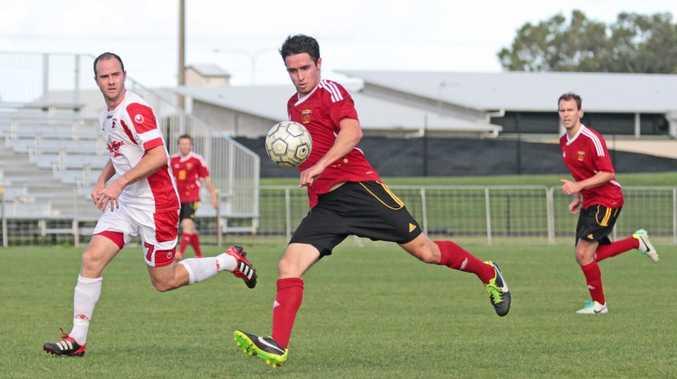 Sunshine Coast Fire player Leon Dwyer in game against Redlands. Photo Darryn Smith / Sunshine Coast Daily