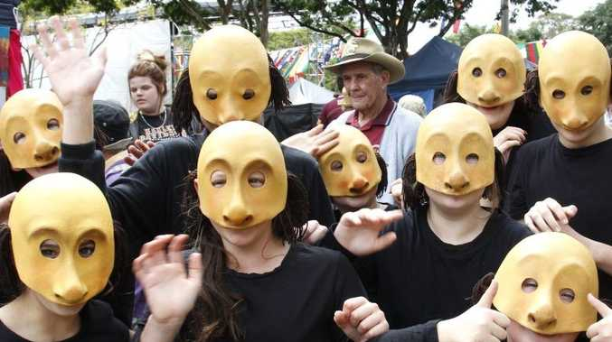 Theatrical group The Shauns at the Childers Multicultural Festival. Photo: Simon Young / NewsMail