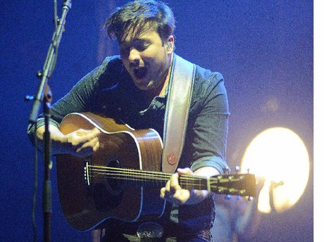 Marcus Mumford on stage at Splendour In The Grass.