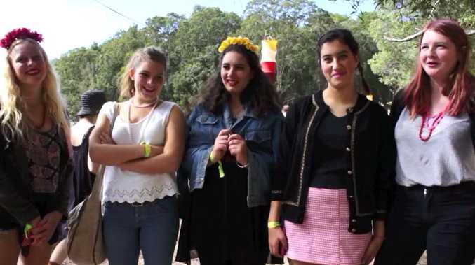 Caitlin Morison, Aquila Van Keuk, Ellie Levi, Yasmin Sharabi and Ruby Weir talk to APN at Splendour.