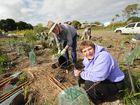 National Tree Day -Skye Buckingham and John Williams giving a hand.