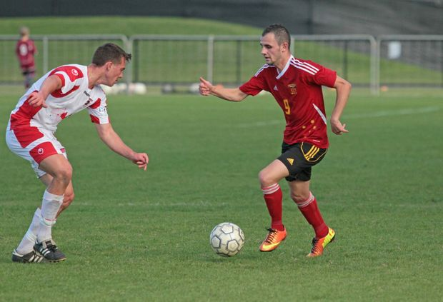 Sunshine Coast Fire player Niko Becmar in game against Redlands. Photo Darryn Smith / Sunshine Coast Daily