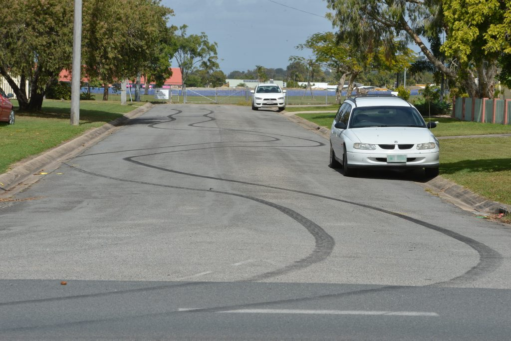 Police are urging residents to dob in hoons, like this one in Russell Street, Andergrove.
