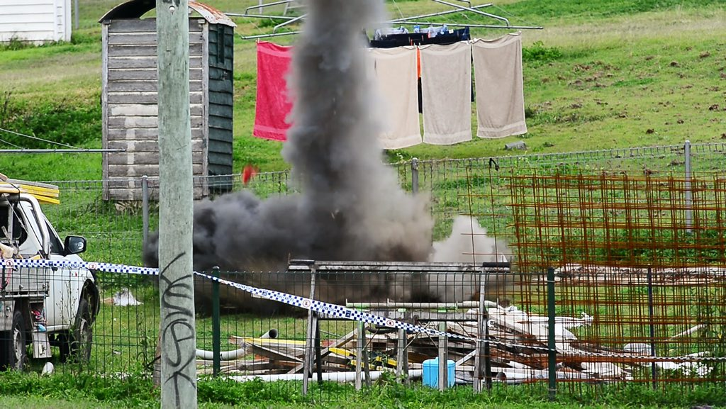 The Police Bomb Squad detonated several more explosives yesterday at a house in West Ipswich.