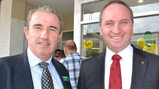 Page MP Kevin Hogan and new Nationals party leader Barnaby Joyce in 2013.