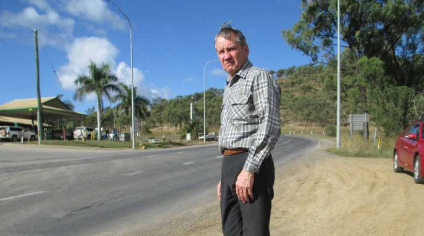 George Johnson at the intersection of the Peak Downs Hwy and the Suttor Development Rd where his son was last seen alive.