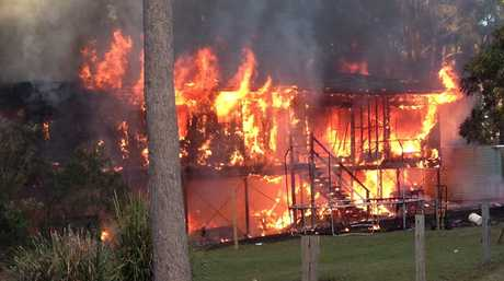 Fire destroyed a two-storey house on 1921 Old Gympie Rd, Glasshosue Mountains.
