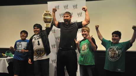 WWE Superstar and Intercontinental Champion Curtis Axel met fans in a meet and greet in Brisbane.