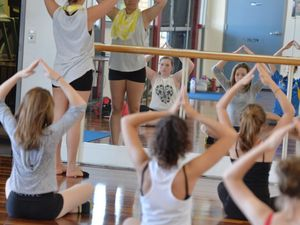 Dancers practice their craft during Danceography classes