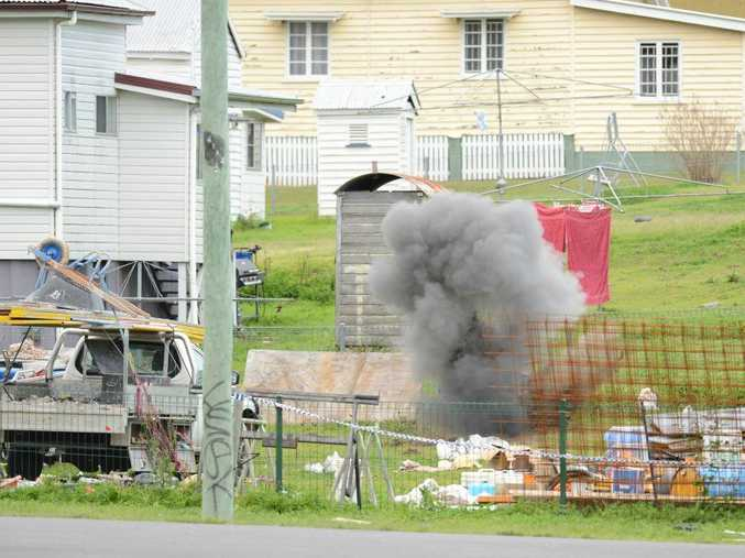 DRAMA: A number of explosives were detonated by the police bomb squad in Clay St, West Ipswich, last year.