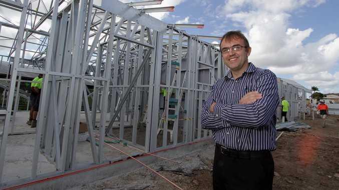 Groundwater Lodge manager Stephen Leggett looks over the work in progress at Granville.