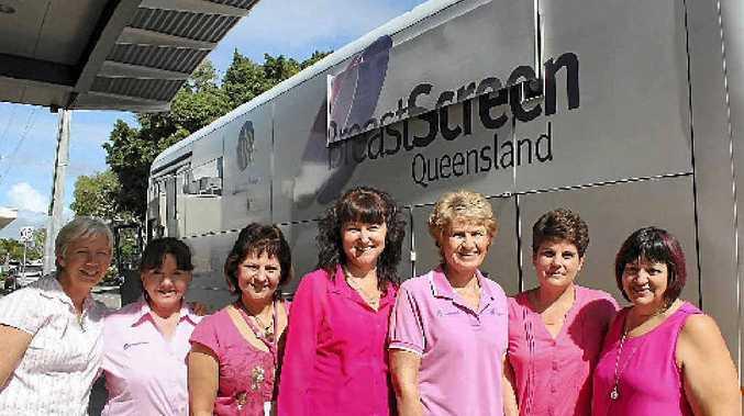 BreastScreen Mackay staff (from left) Carol Fincham, Rose Kochevatkin, Annette Lorimer, Narelle Rosmalen, Lizl de Kock, Maxi Van Vollenstee and Cathy Vella.