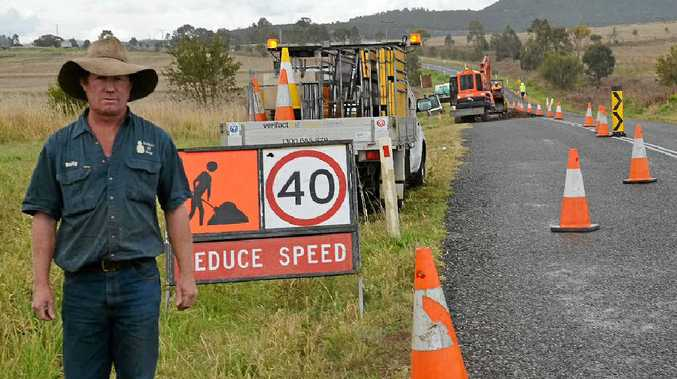 Local resident Rolly Payne is sick of the continual roadworks.