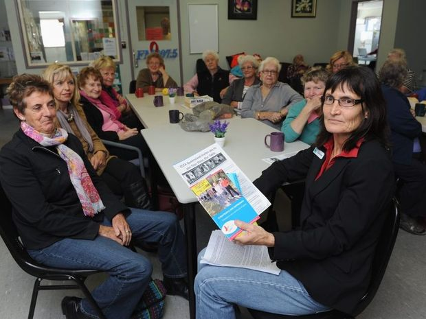 Gloria Weller from COTA Queensland talks about older people and depression at the Halcro Street Community Centre.