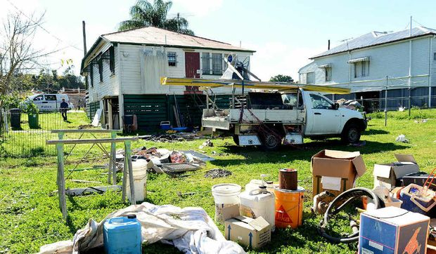 The Clay St property where police found explosives.