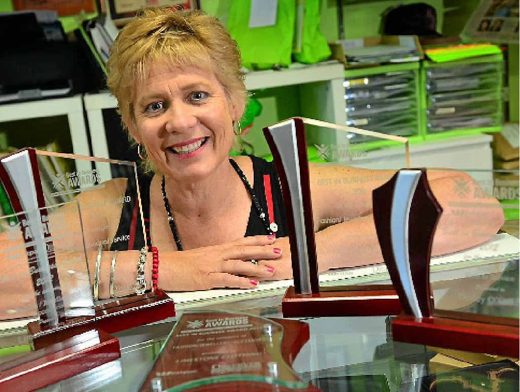 BEST IN BUSINESS: Desley O'Grady, of Limestone Clothing, hopes to snag another award this year.