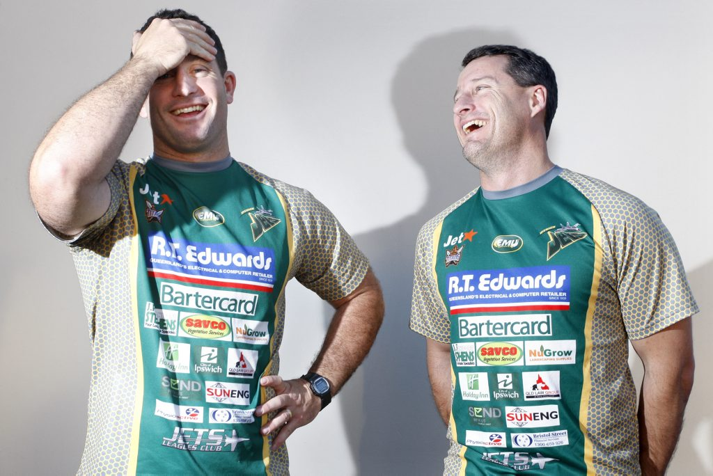 BROTHERS RETURN: Shane and Ben Walker will coach the Ipswich Jets in Toowoomba on Sunday.