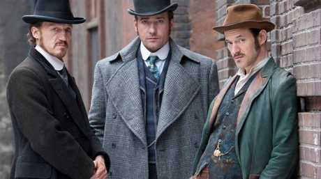 From left, Jerome Flynn, Matthew MacFadyen and Adam Rothenberg star in the TV series Ripper Street.