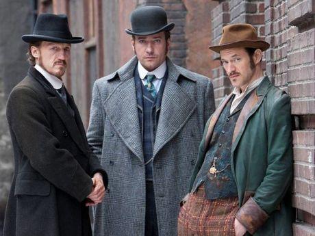From left, Jerome Flynn, Matthew MacFadyen and Adam Rothenberg star in the TV series Ripper Street.
