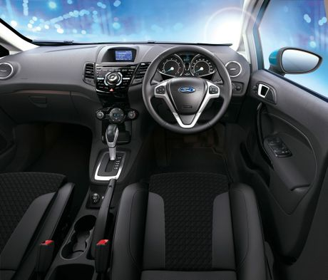Inside the new Ford Fiesta.
