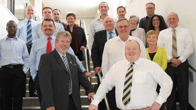 MEET THE TEAM: (Back, from left): Peter Gribbin, Tony Brett, Michael Bell, Cassie Martinez, Eric Kraak, Stephen Bell, Chris Whitaker; (middle row): Tendakai Mapeza, Cecil Barnard, Tim O'Brien, Sheila Stebbings, Sonia Wood, David Tuxford; (front row): Ken Harris, Peter See, Louise Harding; (at front) Andrew Roach.