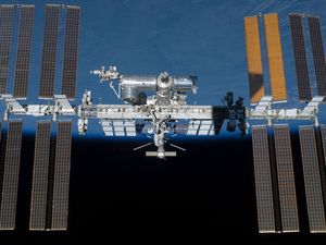 It's not a plane or UFO, it's a space station