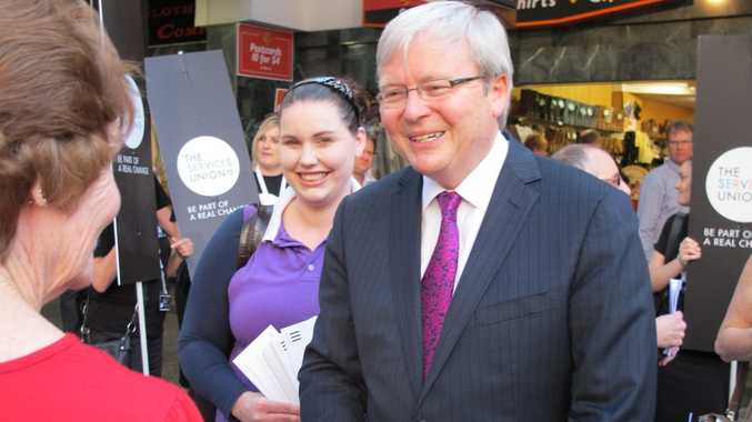 Kevin Rudd during the 2013 campaign.
