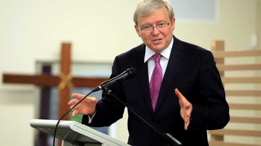 Kevin Rudd is visiting Banora point. Launching Michael Armstrong and Reece Byrnes.