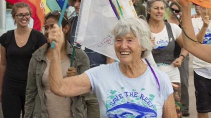 June Norman walked from Cairns to Gladstone to protest the impact on the Great Barrier Reef.